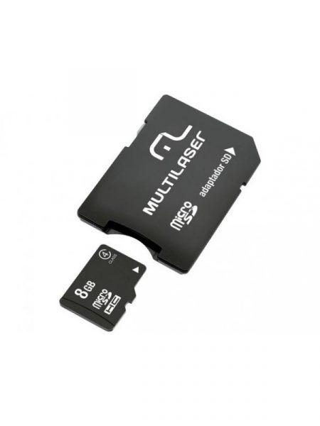 Cartão Memória 8GB Micro SD Multilaser  com Adaptador MC004